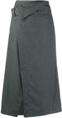 3.1 Phillip Lim belted waist A-line skirt