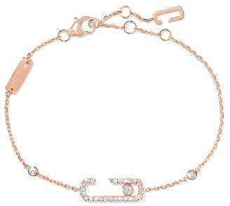Möve Messika Addiction 18-karat Rose Gold Diamond Bracelet
