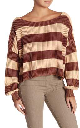 Free People Just My Stripe Pullover