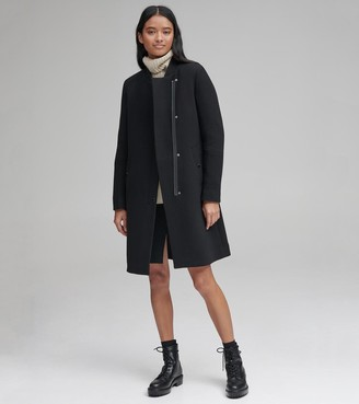 Andrew Marc EMERSON MIXED MEDIA WOOL COAT