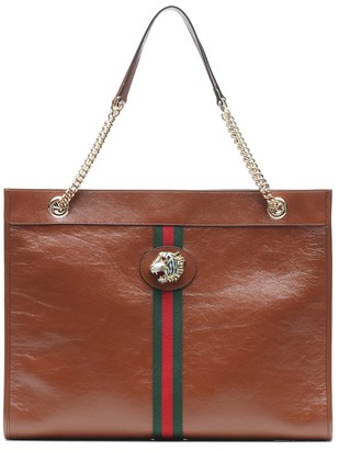 Gucci Large Rajah leather tote