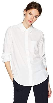Lacoste Women's Twill Shirt with Sleeve Detail and 1 Chest Pocket