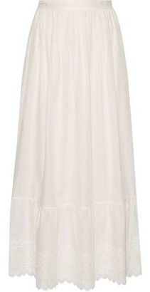 Vanessa Bruno Ghali Broderie Anglaise Cotton Maxi Skirt