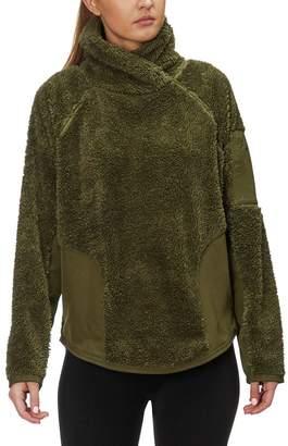 Nike Long-Sleeve Sherpa Fleece Pullover Top - Women's
