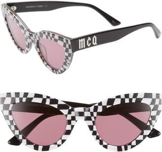 McQ 50mm Cat Eye Sunglasses