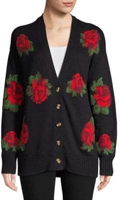 Context Rose-Print Cardigan