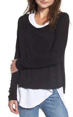 Frank And Eileen Ballet Neck Long Sleeve Cotton Tee