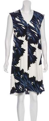 Halston Sleeveless Printed Dress