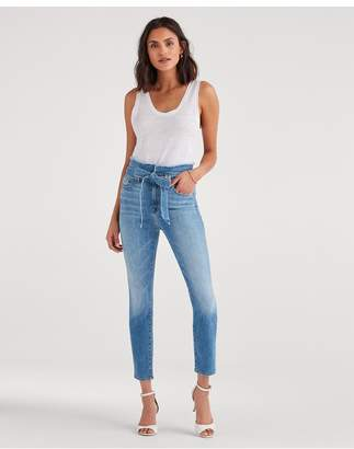 7 For All Mankind Paperbag Jean In Bright Blue Jay