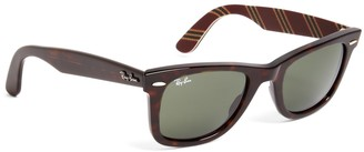 Brooks Brothers Ray-Ban Wayfarer Sunglasses with Burgundy BB#1 Rep Stripe