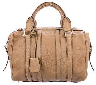 Burberry Pebbled Leather Bowling Bag