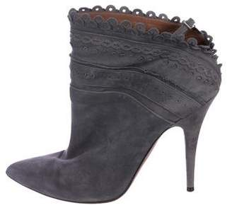 Tabitha Simmons Suede Pointed-Toe Booties