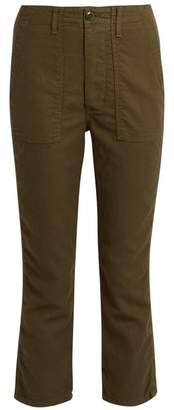 The Great - The Gusset Low Slung Cropped Trousers - Womens - Khaki