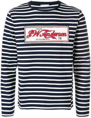 J.W.Anderson striped logo embellished sweater