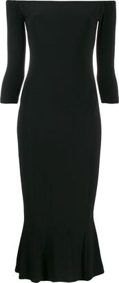 Norma Kamali off-the-shoulder fishtail dress