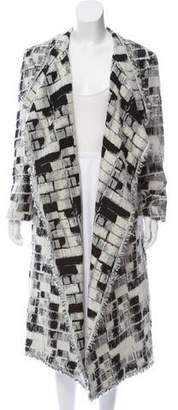 Donna Karan Linen Knit Long Coat