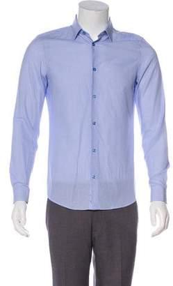 Versace Gingham Woven Shirt