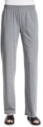 Norma Kamali Straight-Leg Boyfriend Sweatpants, Light Gray $170 thestylecure.com