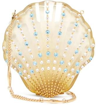 Gucci Broadway Crystal Embellished Seashell Bag - Womens - Yellow Multi