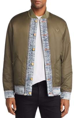 True Religion Mixed-Media Bomber Jacket