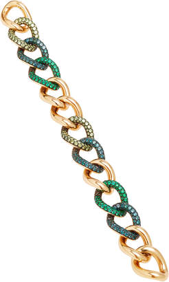 Pomellato Tango Rose Gold 7 Demantoid And Emerald Color Change Bracelet