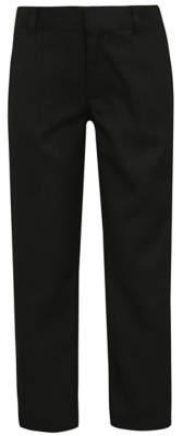 George Boys Charcoal Slim Leg Adjustable Waist School Trousers