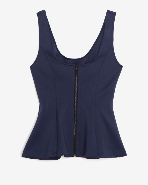 Intermix Exclusive For Stretch Jersey Top: Navy