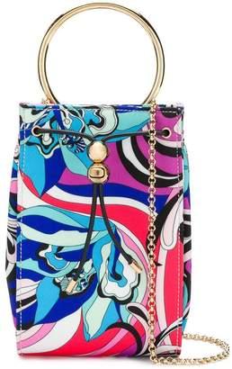 Emilio Pucci Blue Merida Print Elsie Bag