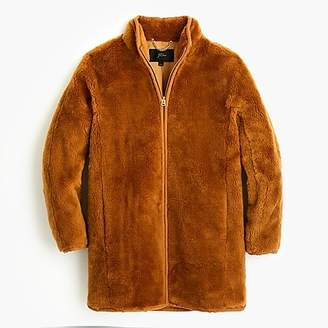 J.Crew Zip-up teddy coat