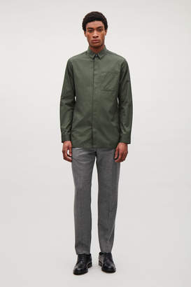 Cos CLEAN SHIRT WITH BONDED DETAILS