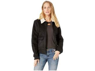 Levi's Faux Suede Two-Pocket Aviator Bomber with Laydown Collar