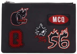 McQ Black Varsity Badge Tablet Pouch