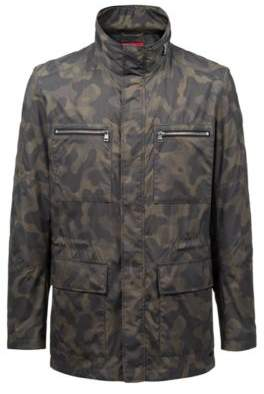 HUGO Boss Slim-fit jacket in camouflage technical fabric XXL Dark Green