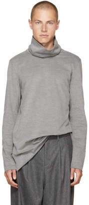 Attachment Grey Wide Collar Turtleneck