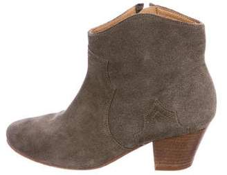 Etoile Isabel Marant Suede Western Ankle Boots