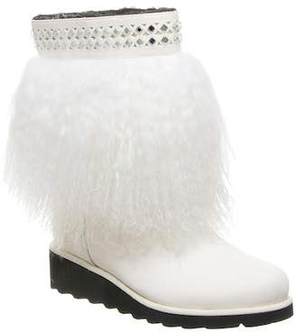 BearPaw Elise Genuine Lamb & Calf Hair Genuine Sheepskin Footbed Pull-On Boot