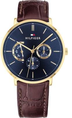 Tommy Hilfiger Brown Leather Mens Watch 1710376