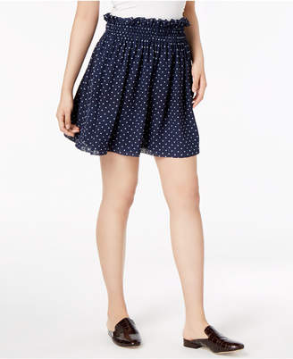 Maison Jules Dot-Print Pull-On Mini Skirt