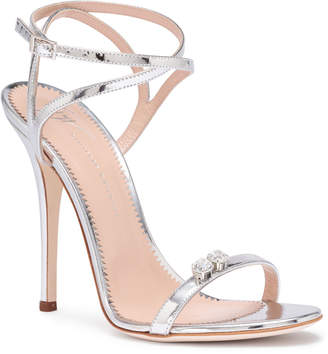 Giuseppe Zanotti Ellie metallic silver leather sandals