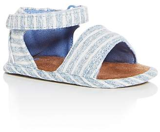 Toms Unisex Shiloh Washed Chambray Stripe Sandals - Baby
