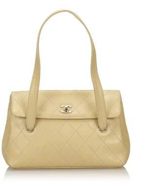 Chanel Vintage Surpique Leather Shoulder Bag