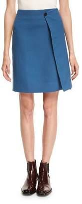 Calvin Klein Twill Side-Stripe Knee-Length Wrap Skirt