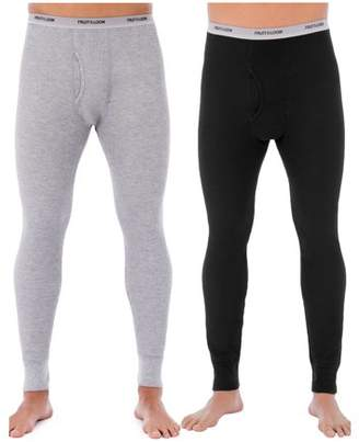 Fruit of the Loom Mens Classic Thermal Underwear Bottom, Value 2 Pack