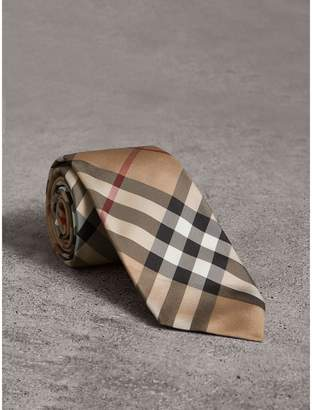 Burberry Modern Cut Check Silk Twill Tie
