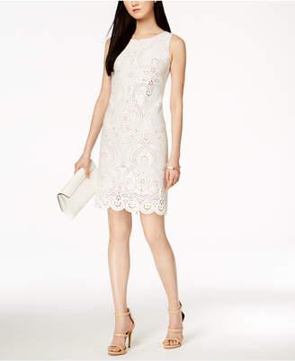 Jessica Howard Laser-Cut Sheath Dress, Regular & Petites