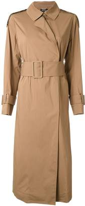 Muveil belted trench coat