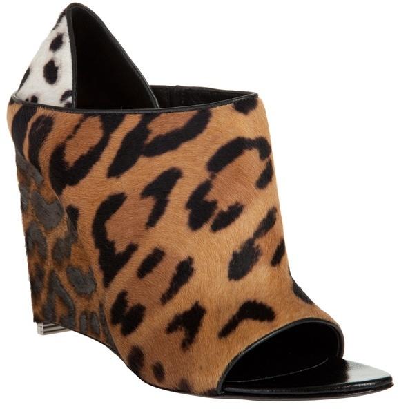 ALEXANDER WANG - 'Alla' leopard-print wedge mule