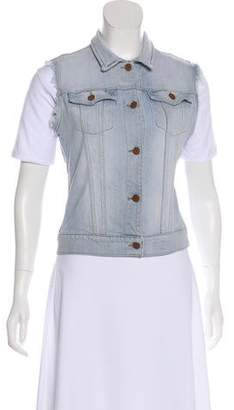 J Brand Denim Button-Up Vest