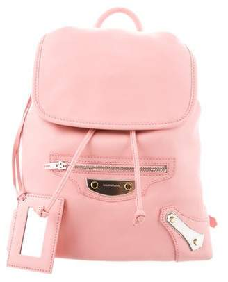 Balenciaga Metal Plate Traveler Backpack