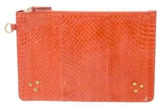 Jerome Dreyfuss Embellished Snakeskin Clutch